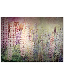 Bright Metallic Meadow Canvas Print