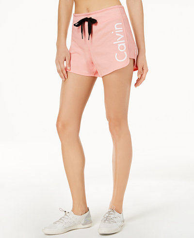 Calvin Klein Performance Curved-Hem Shorts