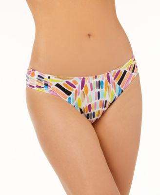 Kalediscope Printed Side-Cinch Hipster Bikini Bottoms, Created for Macy's
