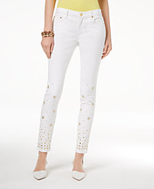 MICHAEL Michael Kors Embellished Skinny Jeans, Regular & Petite