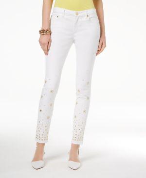 Michael Michael Kors Embellished Skinny Jeans, Regular & Petite 6070063