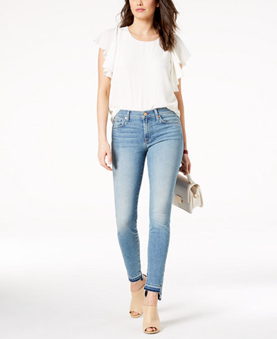7 For All Mankind Released Step-Hem Ankle Skinny Jeans