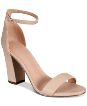 Madden Girl Bella Two-Piece Block Heel Sandals - Blush Smooth