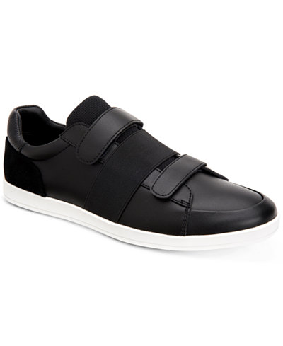 Calvin Klein Men's Mace Brushed Leather Sneakers
