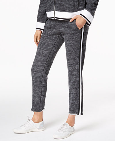 Calvin Klein Performance Terry Striped Ankle Sweatpants