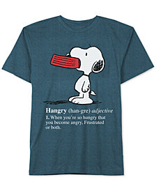 Jem Men's Peanuts Hangry Snoopy T-Shirt