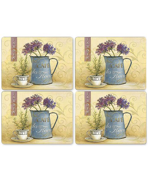 Pimpernel Café de Fleurs Placemats, Set of 4