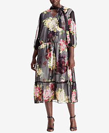 Lauren Ralph Lauren Plus Size Fit & Flare Dress