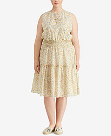 Lauren Ralph Lauren Plus Size Floral-Print Dress, Created for Macy's