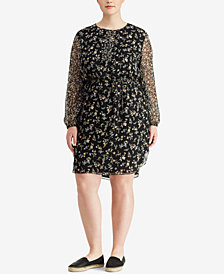 Lauren Ralph Lauren Plus Size Floral Georgette Dress