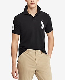 Polo Ralph Lauren Men's Custom Big Pony Slim Fit Mesh Polo