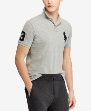 5fa8c64d6650 Polo Ralph Lauren Men S Custom Slim Fit Mesh Polo In Andover Heather ...