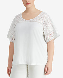 Lauren Ralph Lauren Plus Size Jersey T-Shirt