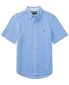 Polo Ralph Lauren Short-Sleeve Cotton Mesh Shirt, Big Boys