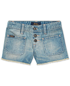 Polo Ralph Lauren Cotton Denim Shorts, Toddler Girls