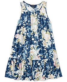 Polo Ralph Lauren Floral Cotton Jersey Dress, Big Girls