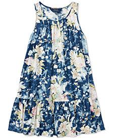 Polo Ralph Lauren Floral Cotton Jersey Dress, Big Girls