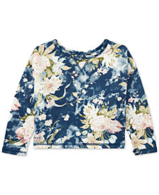 Polo Ralph Lauren Floral French Terry Sweatshirt, Little Girls