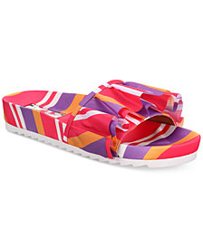 I.N.C. Women's Abena Pool Slides, Created for Macy's