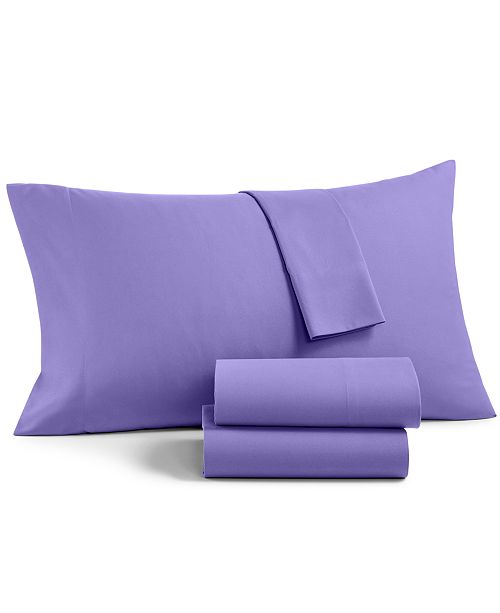 Martha Stewart Collection  CLOSEOUT! Solid Microfiber 3-Pc. Twin XL Sheet Set, Created for Macy's
