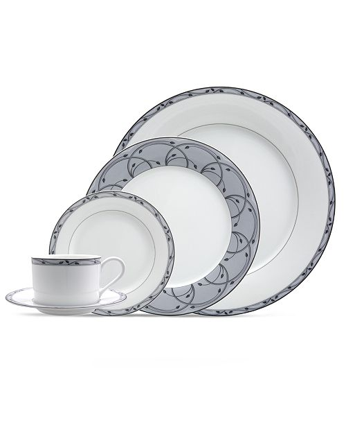 Nikko Dinnerware, Perennial Gray 5 Piece Place Setting