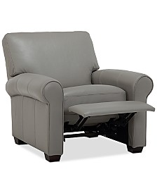 """Orid 36"""" Leather Pushback Recliner, Created for Macy's"""