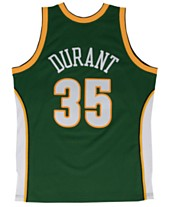 classic fit ffbe1 b3e6d Mitchell   Ness Men s Kevin Durant Seattle SuperSonics Hardwood Classic  Swingman Jersey