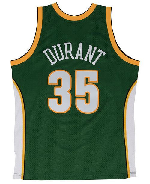 sports shoes 643bb cba3f Men's Kevin Durant Seattle SuperSonics Hardwood Classic Swingman Jersey