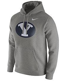 Nike Men's BYU Cougars Cotton Club Fleece Hooded Sweatshirt