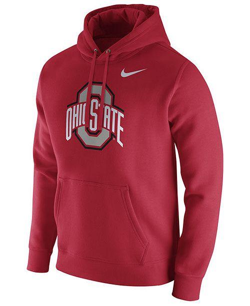 Nike Men's Sweatshirt Buckeyes Club Ohio Hooded Cotton State Fleece rrdq4z