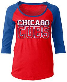 5th & Ocean Women's Chicago Cubs Plus Raglan T-shirt