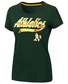 G-III Sports Women's Oakland Athletics Script Foil T-Shirt