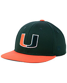 Top of the World Boys' Miami Hurricanes Maverick Snapback Cap