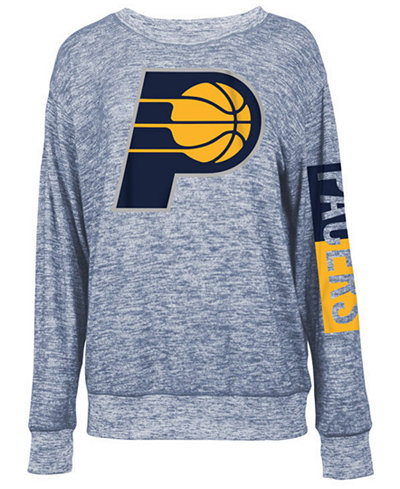 5th & Ocean Women's Indiana Pacers Space Dye Crew Pullover