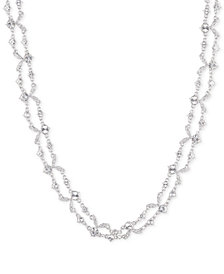 "Givenchy Crystal Double-Row Collar Necklace, 16"" + 3"" extender"