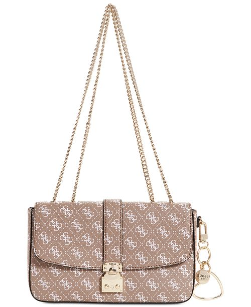 aa34a3c4c8e4 GUESS Joslyn Signature Shoulder Bag - Handbags   Accessories - Macy s