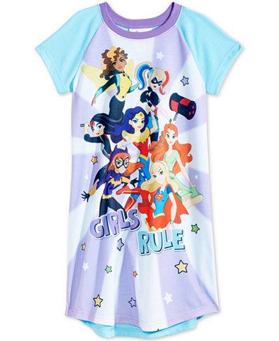 DC Comics Girls Rule Superheroes Nightgown, Little & Big Girls