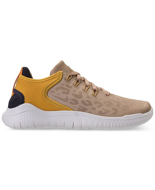 7c5736758468 ... Nike Women s Free RN 2018 Wild Suede Running Sneakers from Finish ...