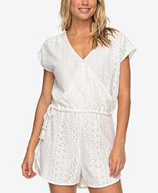 Roxy Juniors' Lace Romper