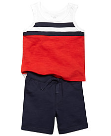 First Impressions Striped Tank Top & Pull-On Shorts, Baby Boys, Created for Macy's