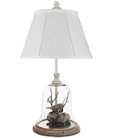 Birds In Cloche Accent Lamp