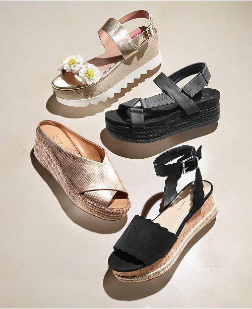23c98e16fbc Franco Sarto Polina Espadrille Platform Wedge Sandals, Created for ...