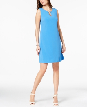 Jm Collection Sleeveless O-Ring Shift Dress, Created for Macy's
