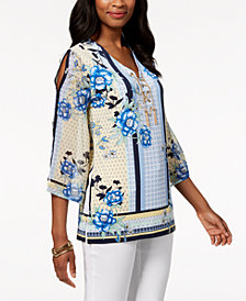 JM Collection Cold-Shoulder Tunic, Created for Macy's
