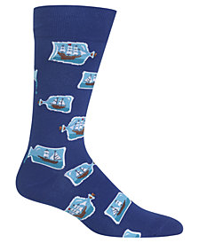 Hot Sox Men's Ship in a Bottle Socks