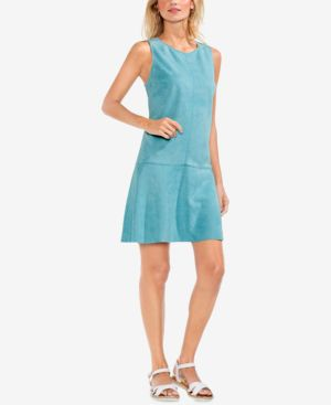 Vince Camuto Sleeveless Faux-Suede Shift Dress 5899089
