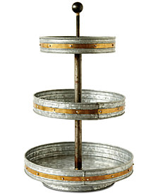 Round Metal 3-Tier Stand