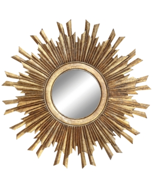 Make a dramatic statement in your space that speaks of alluring mid-century-inspired style with the opulent, gilt-tone Sunburst Mirror.
