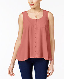 Style & Co Petite Button-Front Blouse, Created for Macy's