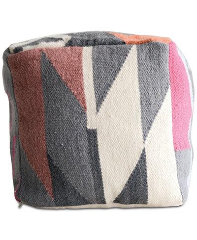 3R Studio Kilim Square Pouf Decorative Pillow